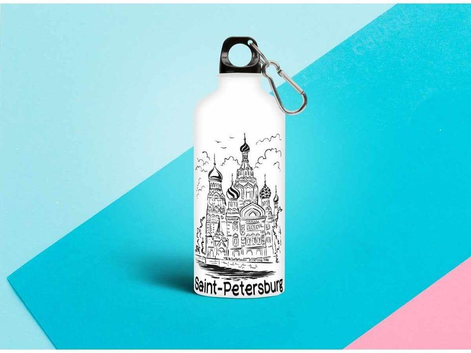 Бутылка из металла - иллюстрация «Спаса-на-Крови»