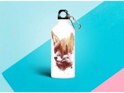 Бутылка металлическая 0,5 мл «Лиса»