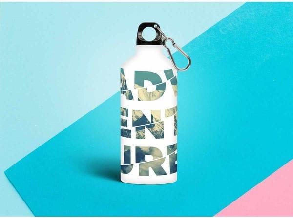 Бутылка металлическая 0,5 л.  «Adventure»