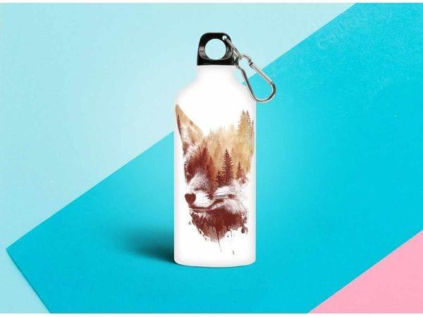 Бутылка металлическая 0,5 л.  «Лиса»