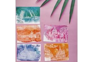 Набор почтовых открыток «Яркий!» 5шт