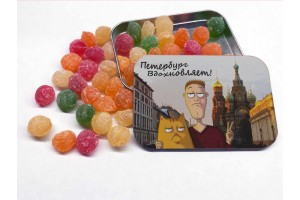 Монпансье «Петербург вдохновляет «Спас на Крови» в металлической баночке