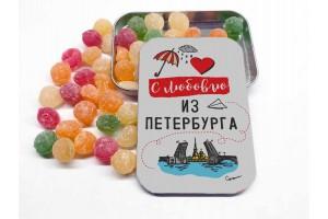 Монпансье «С любовью из Петербурга» в металлической баночке
