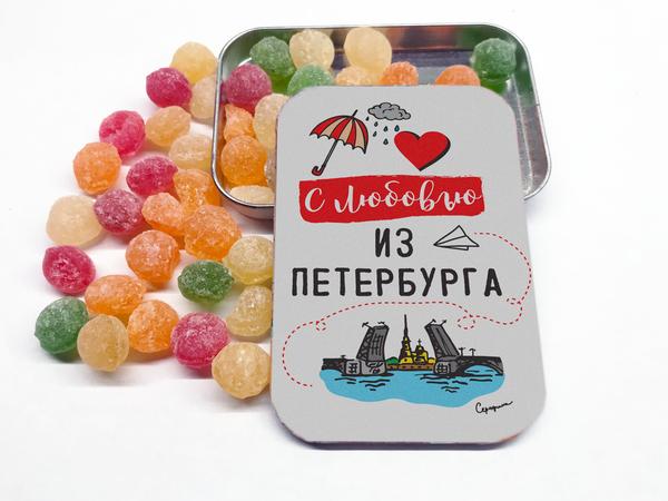 Монпансье в металлической баночке «С любовью из Петербурга»