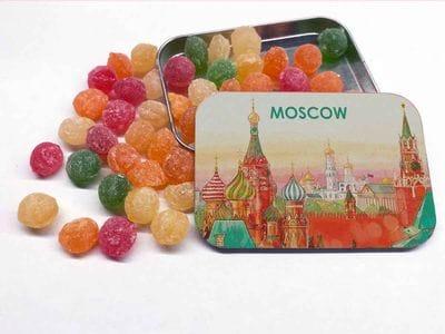 Монпансье в металлической баночке Москва, Кремль