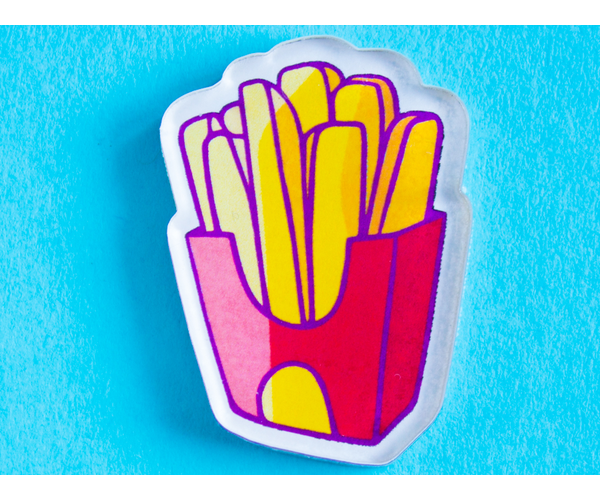 Брошь из акрила с яркой печатью «Картошка фри» от MARKOV design