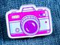 Значок из оргстекла с яркой печатью «Фото камера» от MARKOV design в анимированном стиле