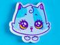 Значок из оргстекла с яркой печатью «Котик» от MARKOV design в анимированном стиле
