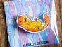 Брошь из оргстекла с яркой печатью «Рыжик» от MARKOV design в анимированном стиле