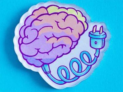 Брошь Заряди мозги, MARKOV.DESIGN