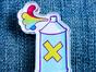 Брошь из акрила с яркой печатью «Балон с краской» от MARKOV design в анимированном стиле