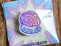 Брошь из оргстекла с яркой печатью «Заряди мозги» от MARKOV design в анимированном стиле