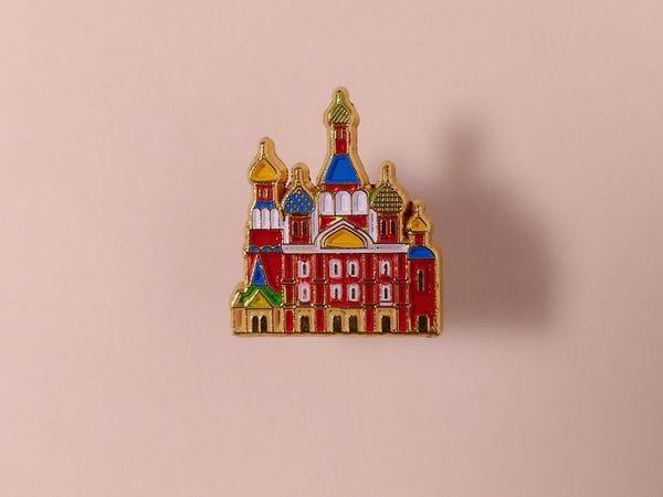 Значок металлический с эмалью «храм Спас на крови»