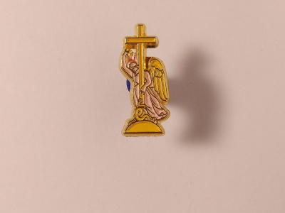 Металлический значок с изображением «Ангел»