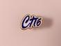 Металлический значок с изображением «надпись СПб»