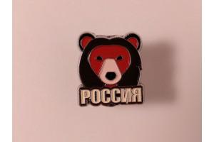Значок металлический с эмалью «Медведь»