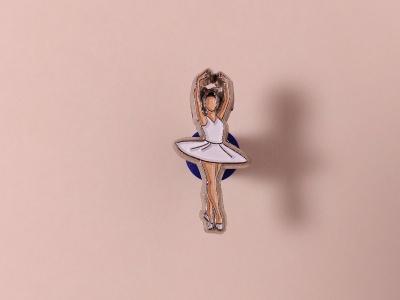 Значок металлический с эмалью «Балерина»