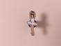 Металлический значок с изображением «Балерина»