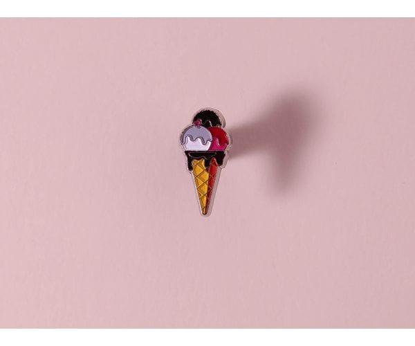 Металлический значок с изображением «Мороженое»