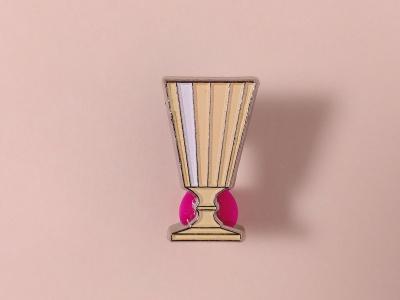 Значок металлический с эмалью «Рюмка»