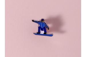 Значок металлический с эмалью «Сноубордист»
