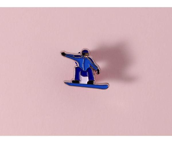 Металлический значок с изображением «Сноубордист»