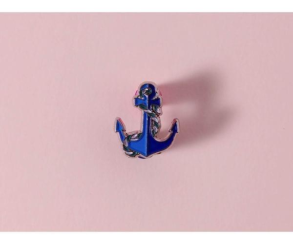 Металлический значок с изображением «Якорь»