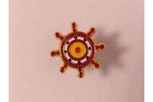 Значок металлический с эмалью «Штурвал»