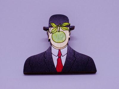 Брошь «Человек в шляпе с яблоком», Брошечная им. Билла Трейлора