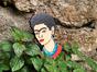 Брошь из дерева ручная покраска «Портрет Фриды Кало» от Билла Трейлора hand made
