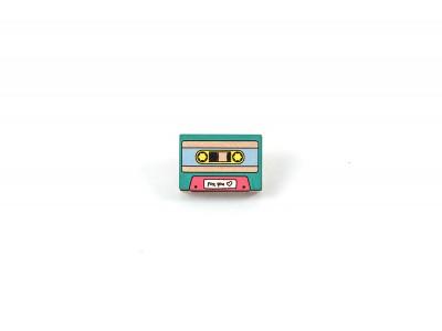 Деревянный пин «Наши песни», кассета, Waf Waf