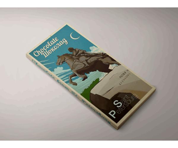 Шоколад молочный «Медный всадник» из серии Ретро постер