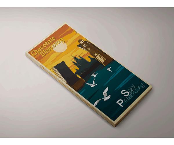 Шоколад молочный «Мост» из серии Ретро постер