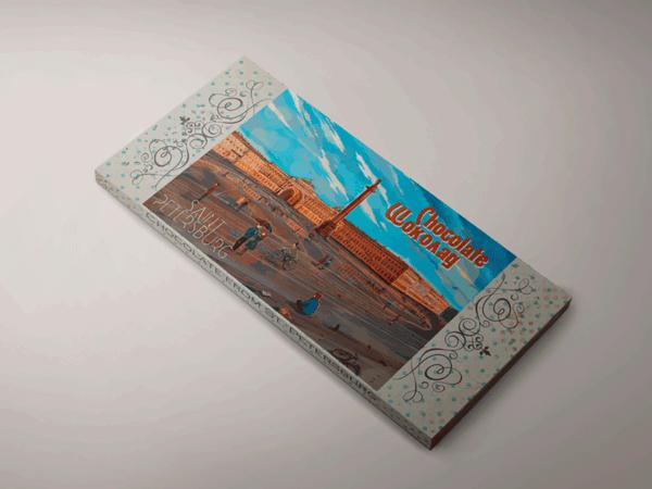 Шоколадная плитка «Дворцовая площадь»