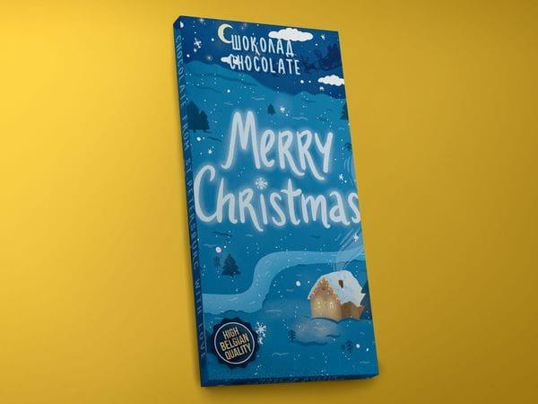 Шоколад молочный «Merry Christmas», 45гр
