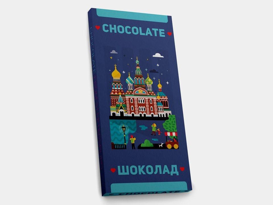 Шоколад молочный «Спас на Крови» FD, 100гр