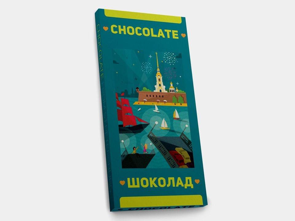 Шоколад молочный «Петропавловская крепость» FD, 100гр