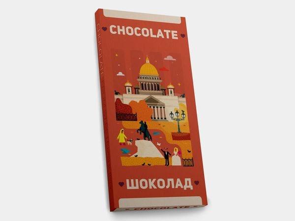 Шоколадная плитка «Исаакиевский собор»