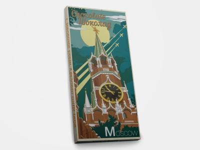 Шоколадная плитка «Москва. Кремль - ретро»