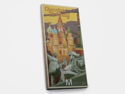 Шоколадная плитка «Москва. Собор Василия блаженного - ретро»