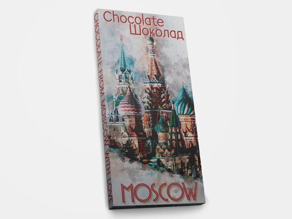 Шоколад молочный «Москва. Собор Василия блаженного», 100гр