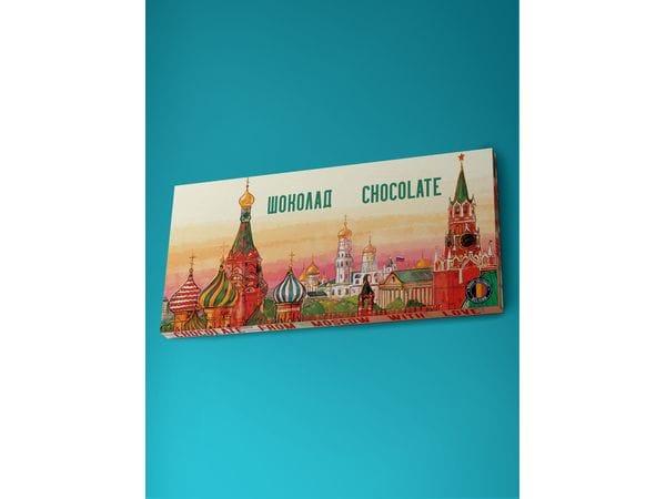Шоколад молочный «Панорама Москвы», 100гр