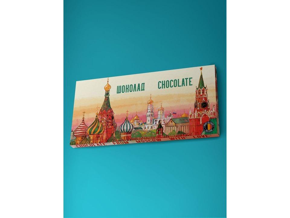 Молочный шоколад из бельгийского какао - «Панорама Москвы», 100гр