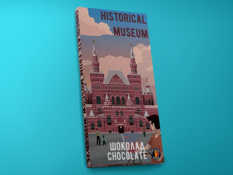 Молочный шоколад из бельгийского какао - «Исторический музей. Поп-арт», 100гр