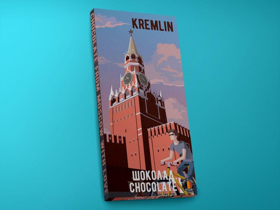 Молочный шоколад из бельгийского какао - «Кремль. Поп-арт», 100гр