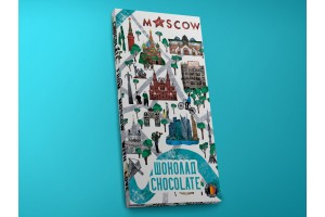 Шоколад молочный «Карта Москвы. Зарядье», 100гр