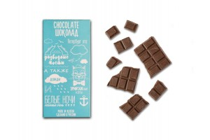 Шоколадная плитка «Все о Санкт-Петербурге» Афоризмы, 100гр, молочный