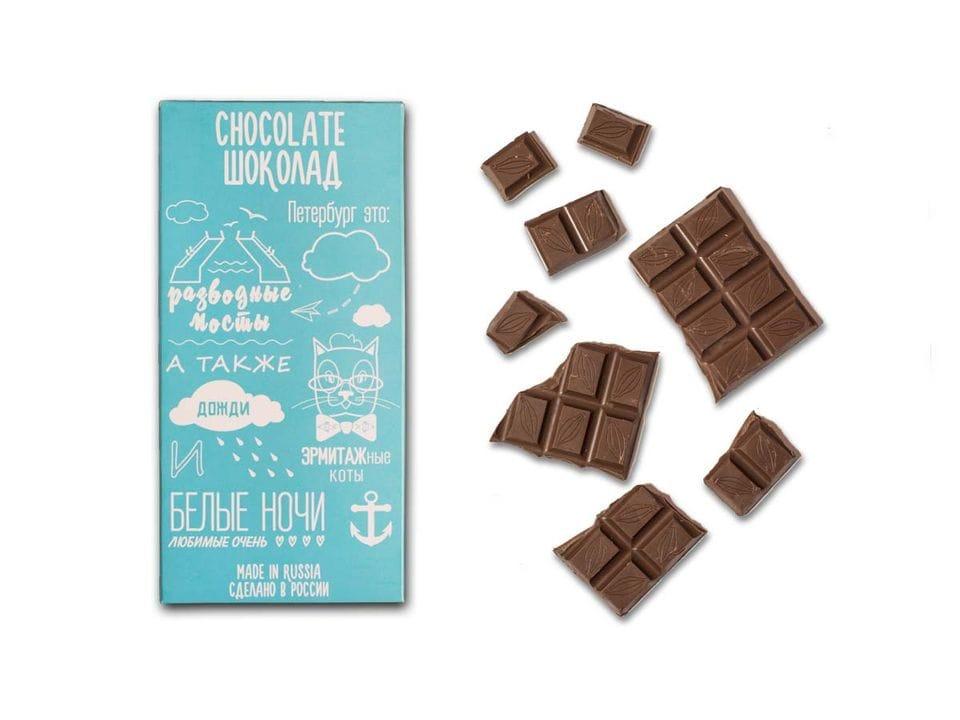 Шоколад молочный «Все о Санкт-Петербурге» из серии Афоризмы