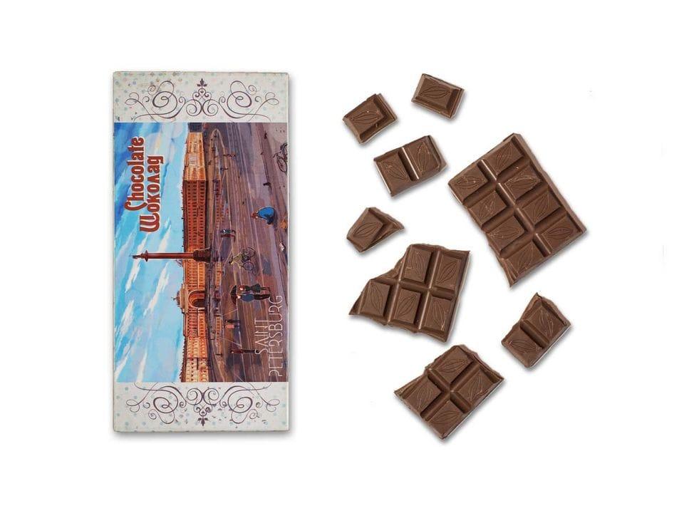 Шоколад молочный «Дворцовая площадь» из серии Романтический Петербург
