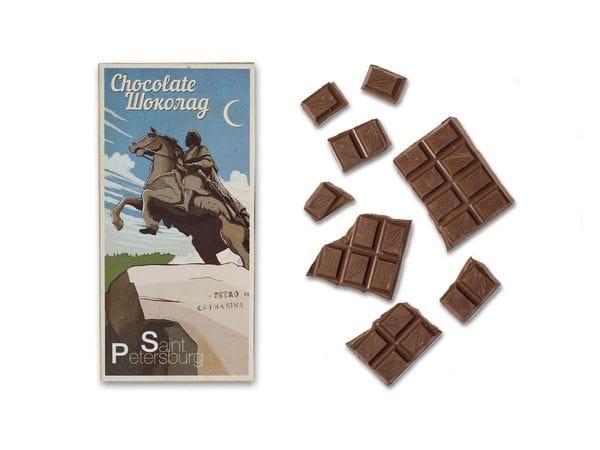 Шоколадная плитка «Медный всадник»
